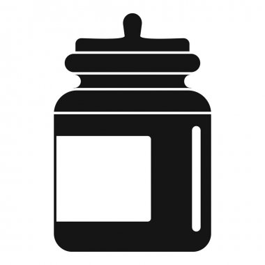 Food storage jar icon. Simple illustration of Food storage jar vector icon for web design isolated on white background icon