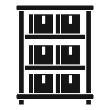 Parcel food storage icon. Simple illustration of Parcel food storage vector icon for web design isolated on white background icon
