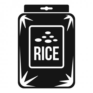 Rice pack icon. Simple illustration of Rice pack vector icon for web design isolated on white background icon