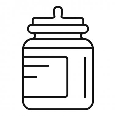 Food storage jar icon. Outline Food storage jar vector icon for web design isolated on white background icon