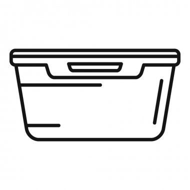 Food plastic box icon. Outline Food plastic box vector icon for web design isolated on white background icon