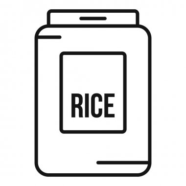 Rice pack icon. Outline Rice pack vector icon for web design isolated on white background icon