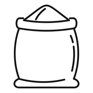 Open flour sack icon. Outline Open flour sack vector icon for web design isolated on white background icon