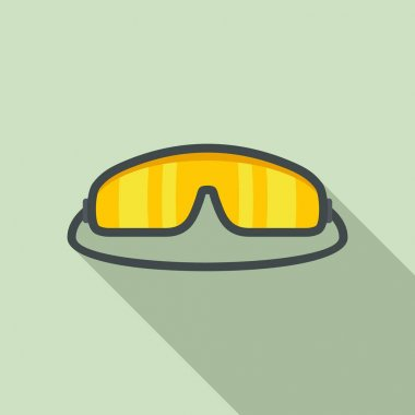 Skydiver glasses icon. Flat illustration of Skydiver glasses vector icon for web design icon