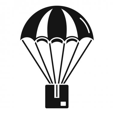 Parachuting parcel icon. Simple illustration of Parachuting parcel vector icon for web design isolated on white background icon