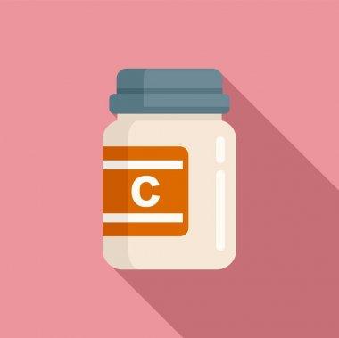 Vitamin jar icon. Flat illustration of Vitamin jar vector icon for web design icon