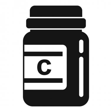 Vitamin jar icon. Simple illustration of Vitamin jar vector icon for web design isolated on white background icon