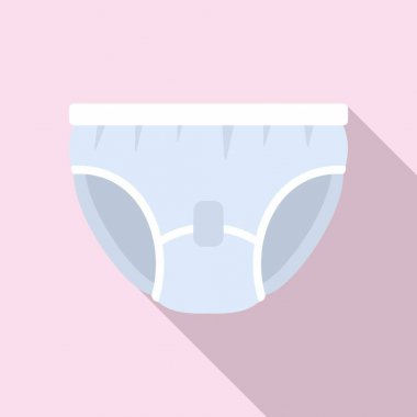 Care diaper icon. Flat illustration of Care diaper vector icon for web design icon