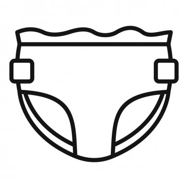 Care diaper icon. Outline Care diaper vector icon for web design isolated on white background icon