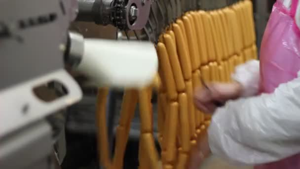 Žena v továrně na zpracování masa