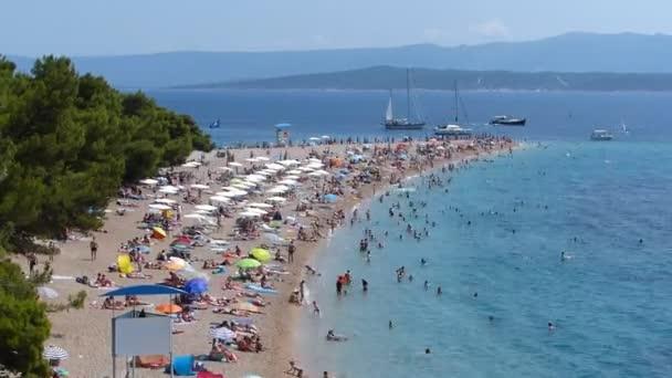 People on the beach in Croatia