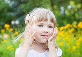 Photo Portrait of charming little girl