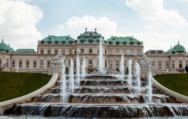 Beautiful view of Belvedere Palace