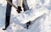 Osoba, odklízení sněhu