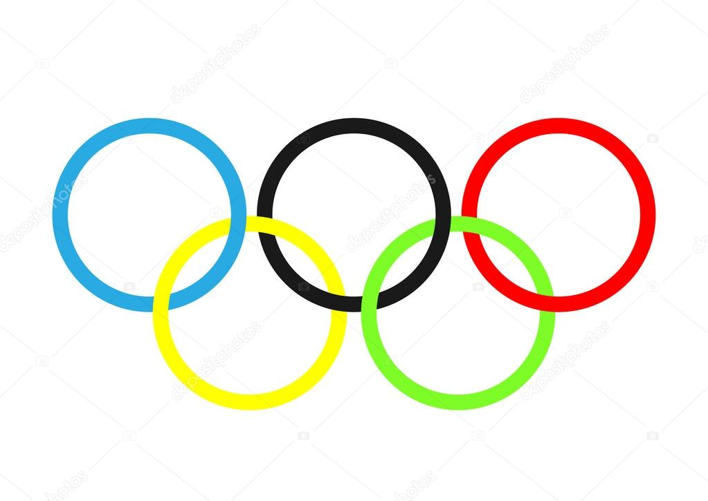 olympic rings olympics circles � stock vector