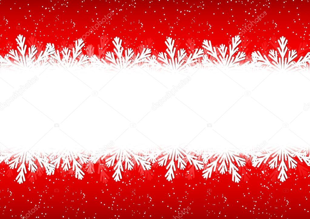 Weihnachten Schneeflocke Grenze — Stockvektor © gabylya89 #59628345