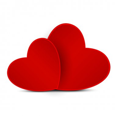 Red hearts stock vector