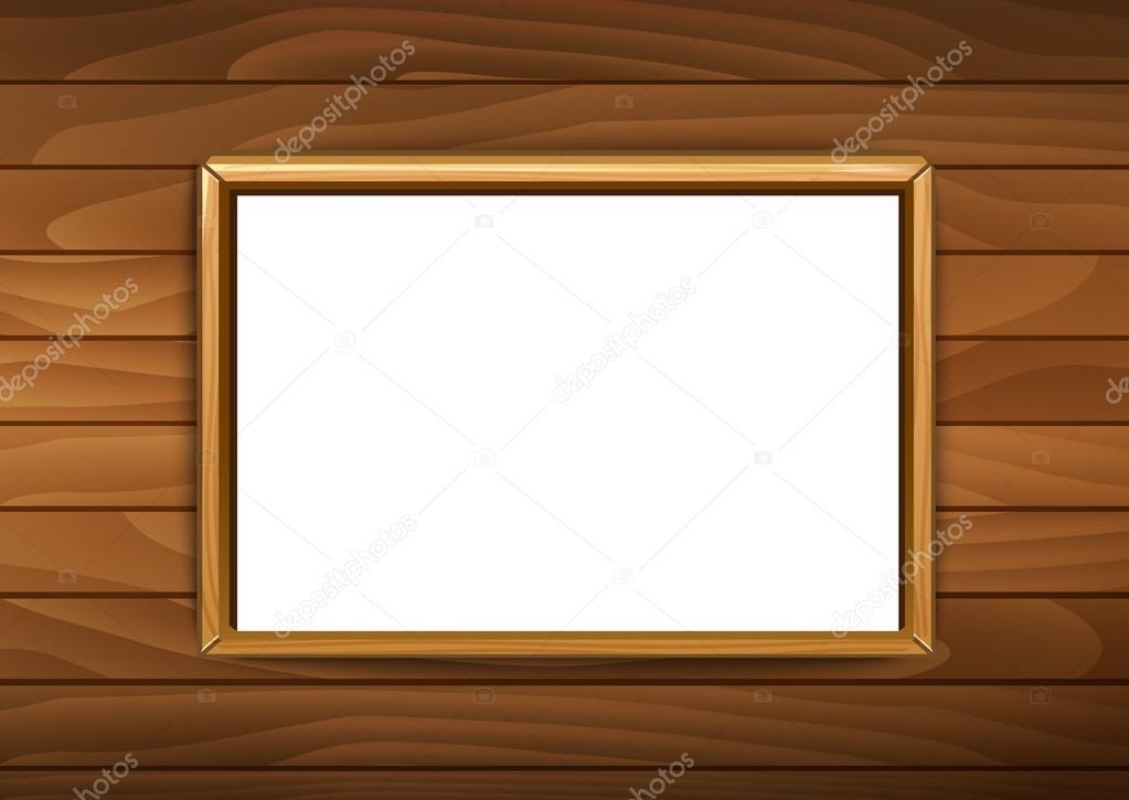 Marcos para cuadros o fotografías sobre el ladrillo madera backgrou ...