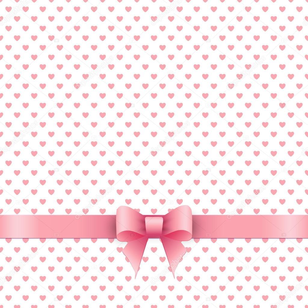 cute background with pink ribbon stock vector gabylya89 63368505