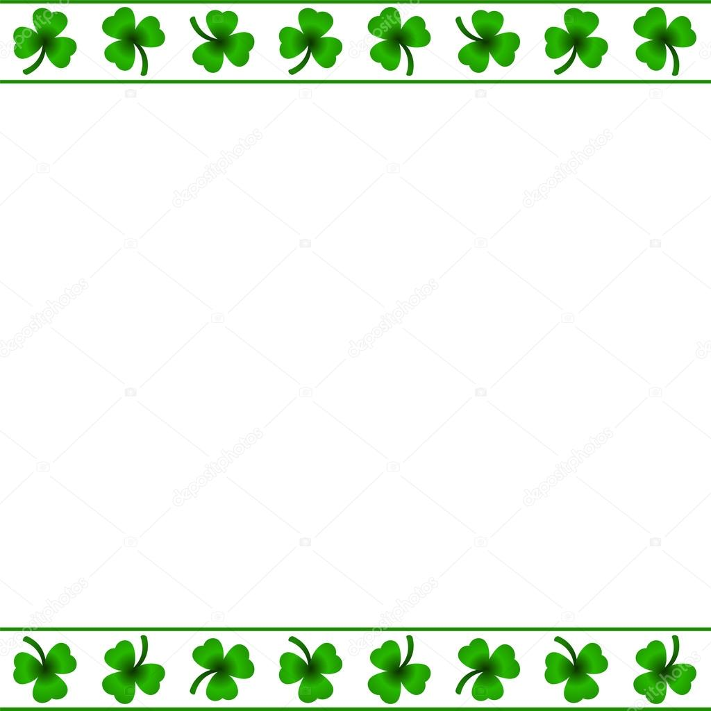 marco de hojas de trébol — Archivo Imágenes Vectoriales © gabylya89 ...