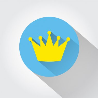 Crown icon. Flat design style.