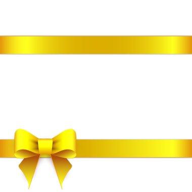 Yellow ribbon bow horizontal border