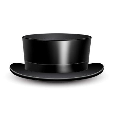 Illustration black cylinder hat.
