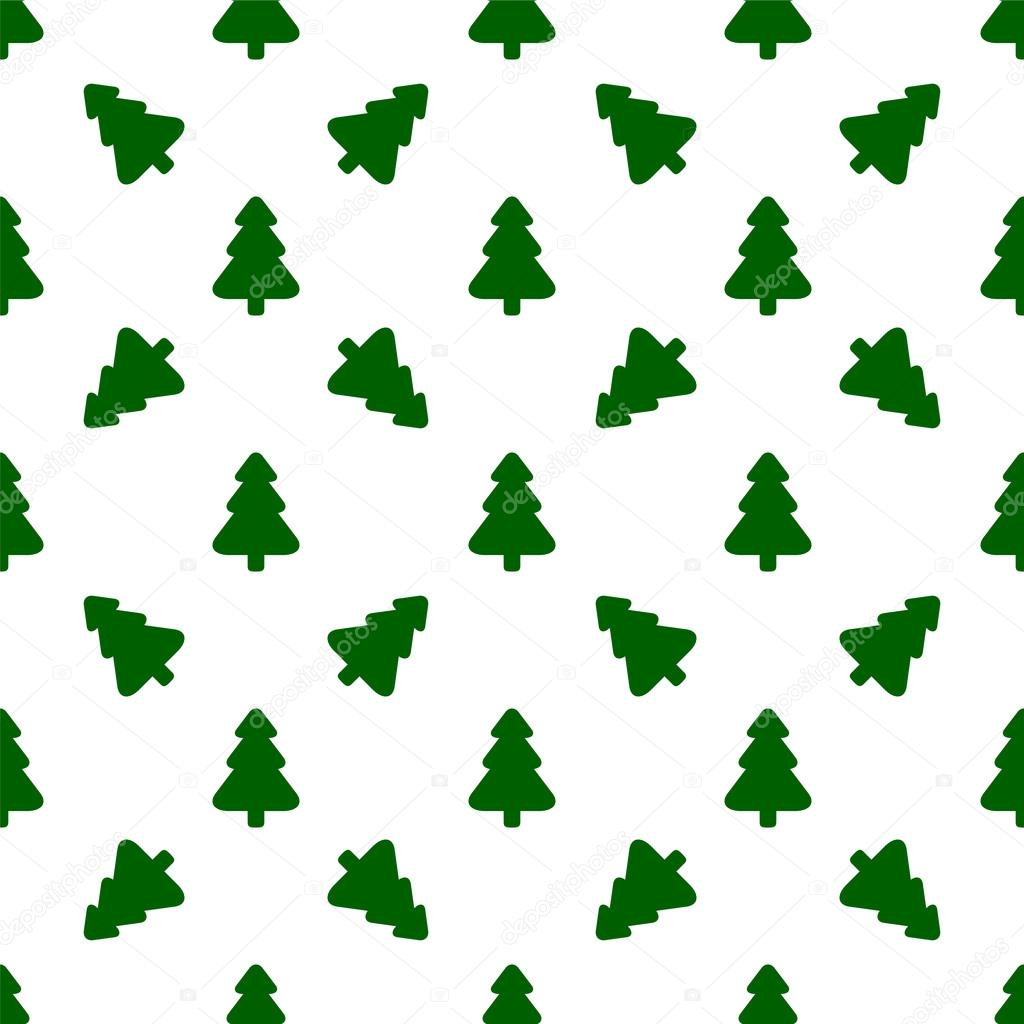 Christmas Tree Pattern.Pattern For Wrapping Paper Green Christmas Tree On A White