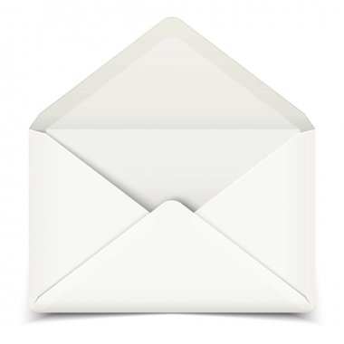 Blank   open envelope
