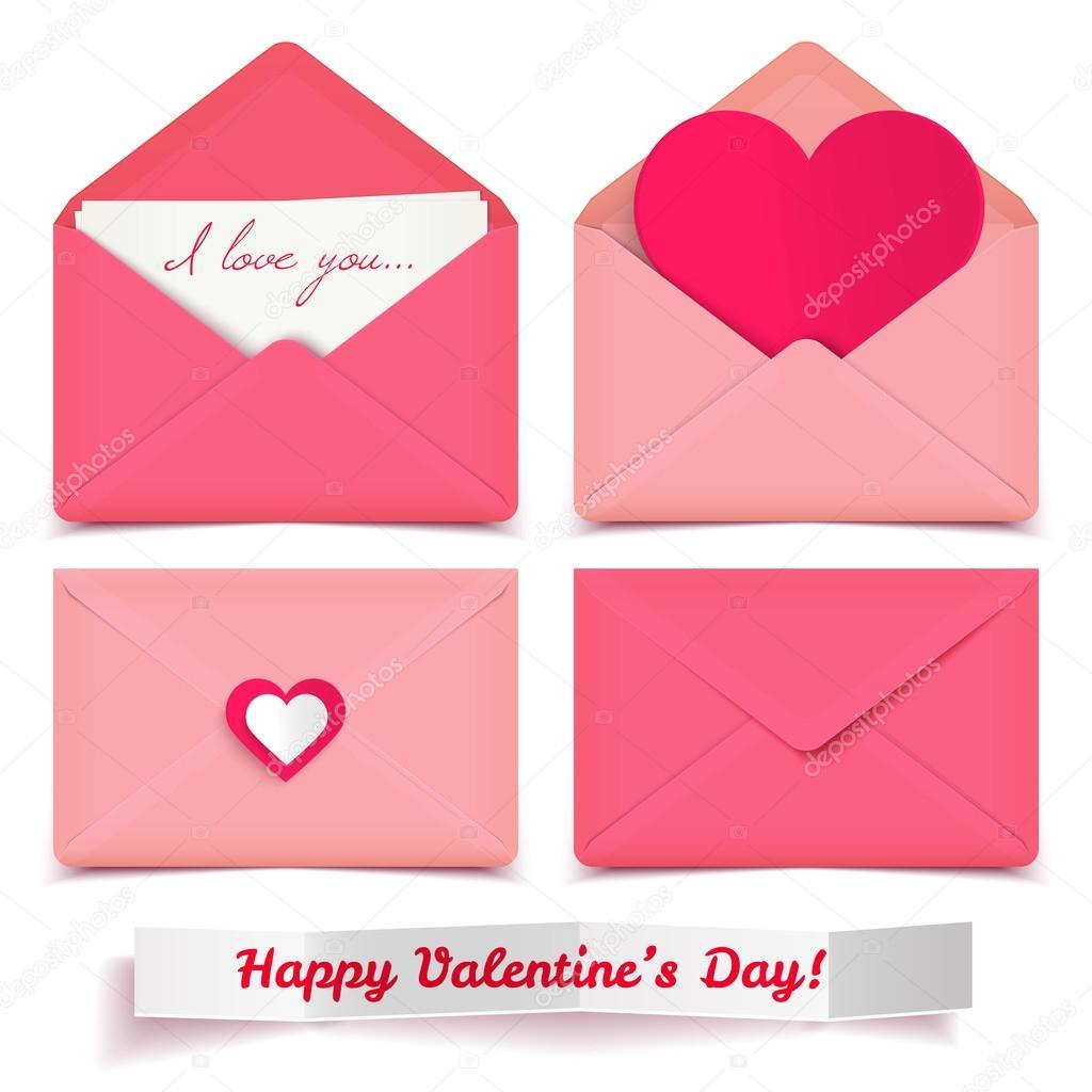 Valentines Day Envelopes Stock Vector C Littlepaw 64123045