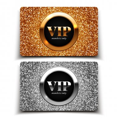 Gold and silver VIP cards