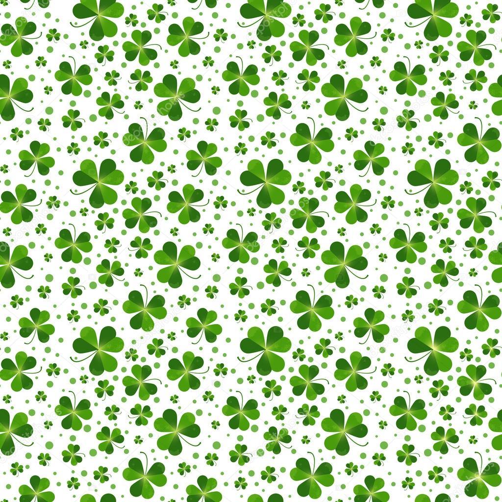Muster mit Kleeblatt-Blätter — Stockvektor © littlepaw #66202013