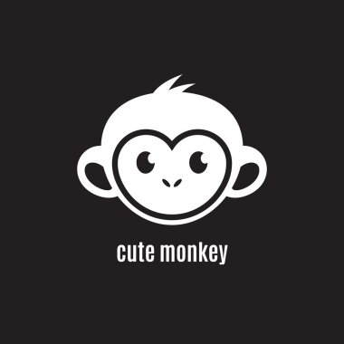 Cute monkey face