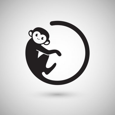 monkey logo in a shape of circle