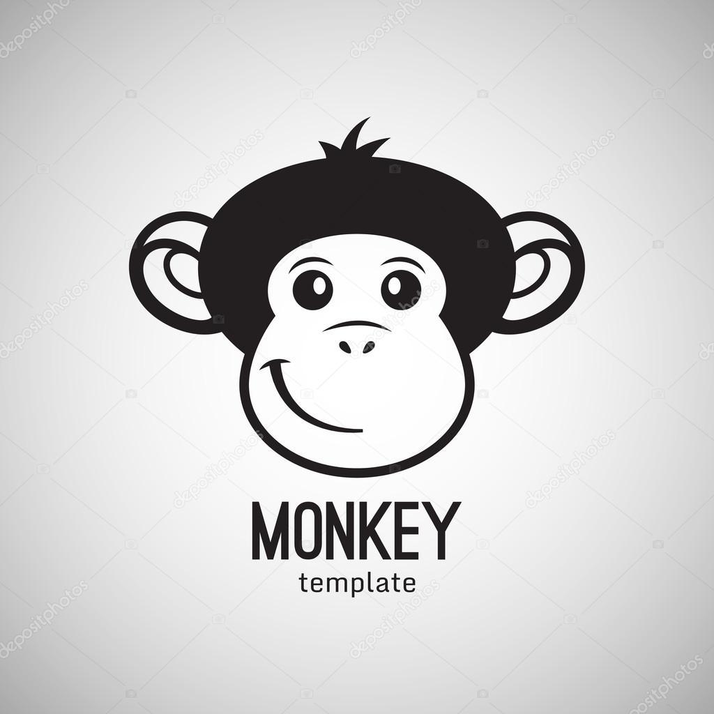 funny monkey face stock vector littlepaw 88761828