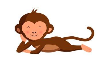 Cute funny monkey relaxing