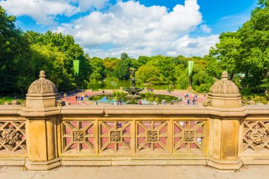NEW YORK, USA - September 26, 2018: Bethesda Terrace in CENTRAL PARK. Central Park is an urban park in Manhattan. Popular destination for tourists. New York City, USA.