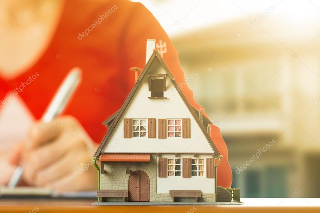 Mortgage loading and property document concept