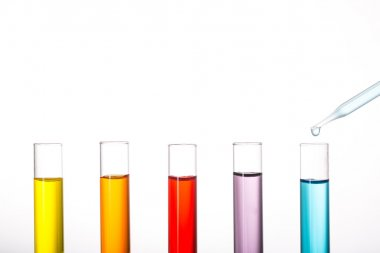 Chemistry flask glassware for test laboratory.