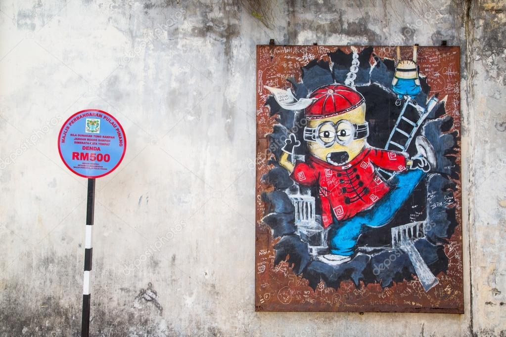 GEORGE TOWN,PENANG ,MALAYSIA- CIRCA March 26, 2015: Public stree
