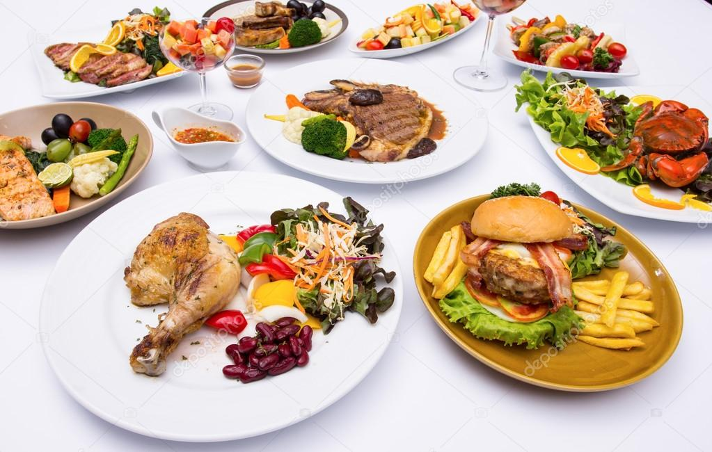 Western food style \u2014 Stock Photo