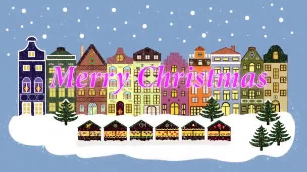 Vánoční zimní město.