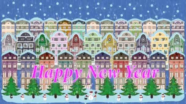 Karácsonyi téli város.