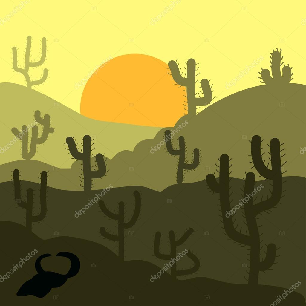 Paisaje del desierto Resumen — Vector de stock © Valera197615 #118999930