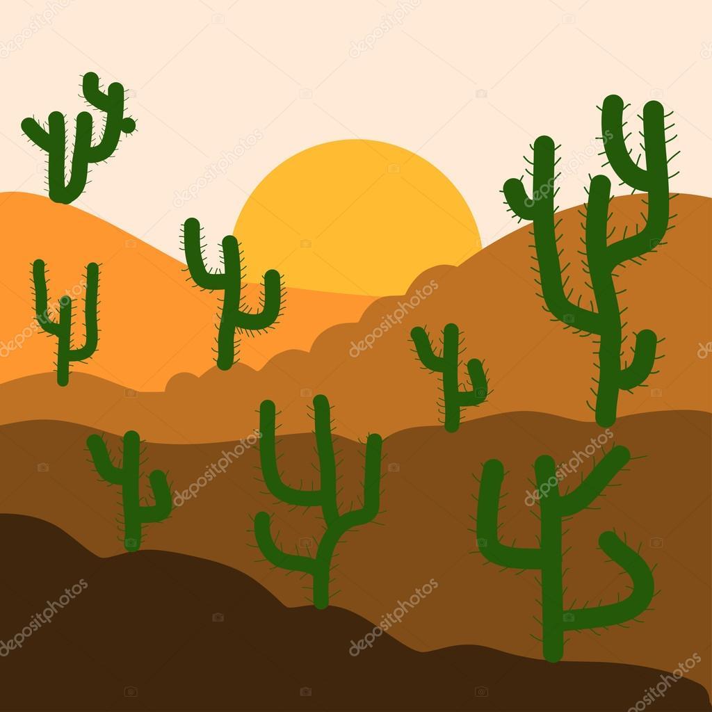 Paisaje del desierto Resumen — Vector de stock © Valera197615 #119000152