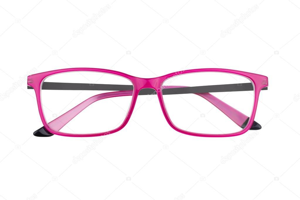 Marcos de lentes color de rosa blanco — Fotos de Stock ...