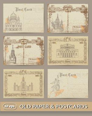 Set of old postcards