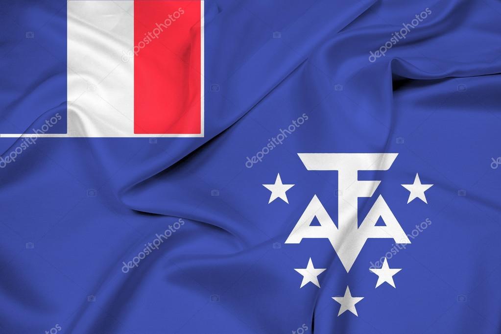 フランス領南方・南極地域の旗を...