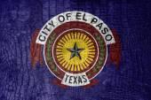 Vlajka El Paso, Texas, na plátně luxusní, módní