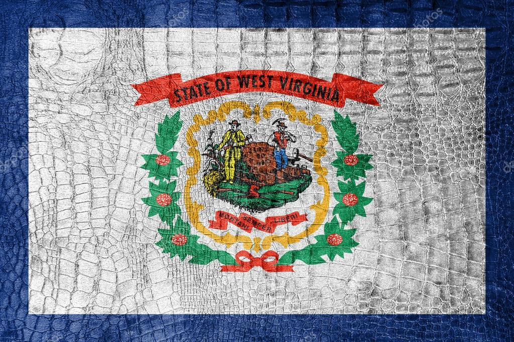 Flag Of West Virginia State On A Luxurious Fashionable Canvas